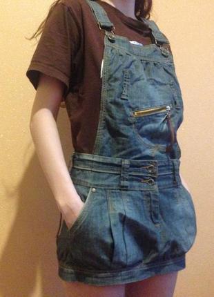 Джинсовый комбинезон/ джинсовая юбка мини