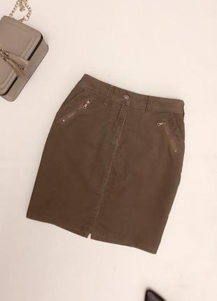 Юбка вельветовая, прямая юбка из микровельвета