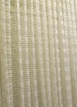 Готовая белая гардина (тюль) 5,95 х 1,5 м