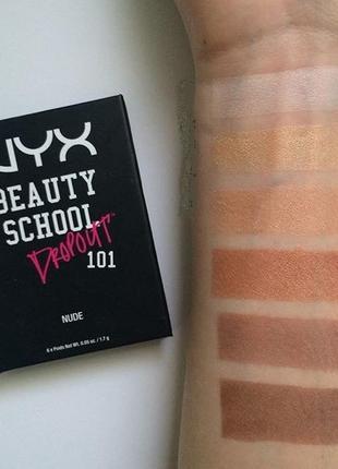 Тени nyx beauty school dropout 101 nude