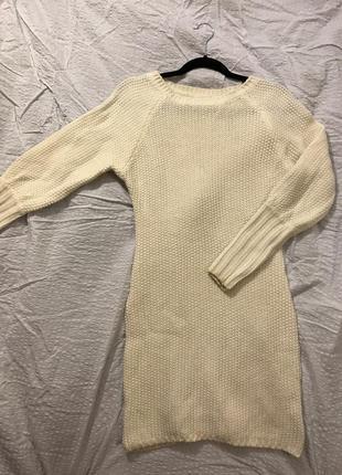 Красивое вязаное платье-свитер love republic