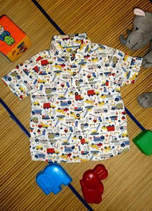 Рубашка летняя для мальчика 1,5-2года