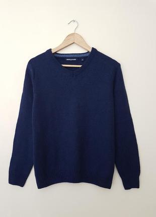 Кашемировый шерстяной свитер джемпер полувер
