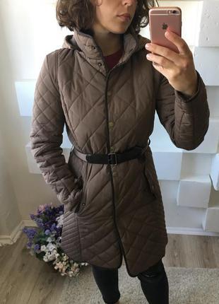 Стеганое пальто ostin капучино