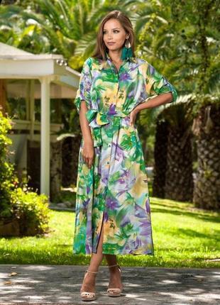Новинка 2019 платье рубашка халат индиано код 1233