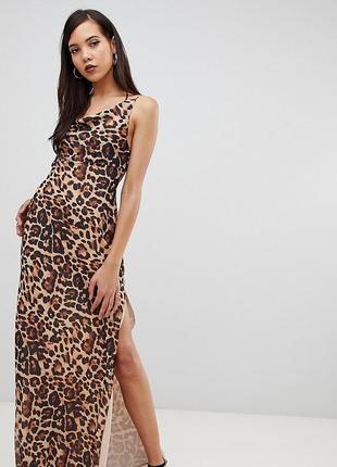 Леопардовый сарафан в пол от hsm