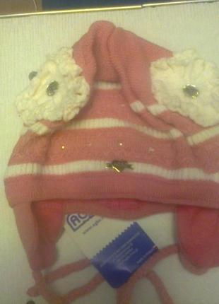Демисезонная шапка для девочки 44-46р agbo польша