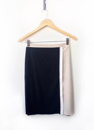 Двухцветная юбка на запах