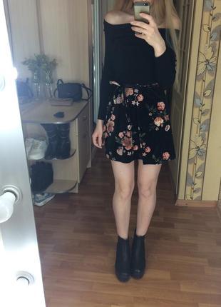 Невероятной красоты бархатная велюровая юбка topshop на запах высокая посадка талия