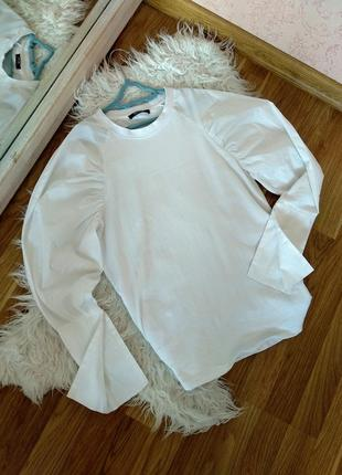 Коллекция 2019!белая кофта, рубашка , реглан, свитшот от zara