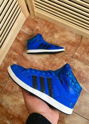 Высокие синие кроссовки от adidas
