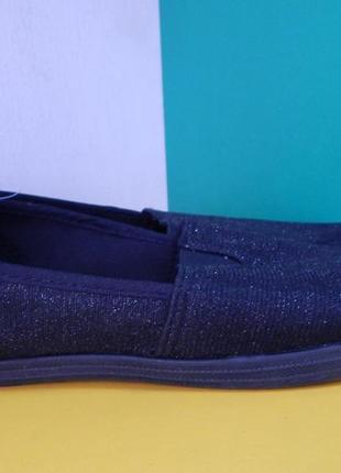 Женские чёрные текстильные мокасины blue motion