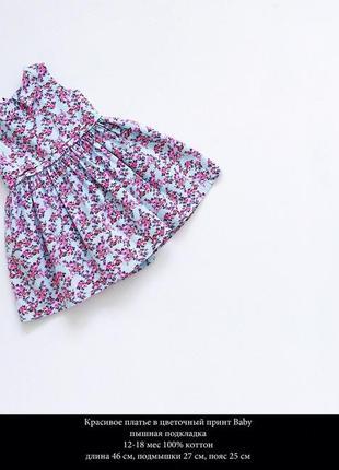 Красивое платьеце в цветочный принт
