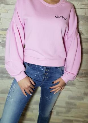 Розовый свитшот h&m