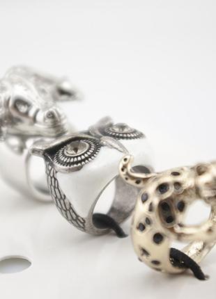 Набор колец hm animal - цена за все 3 кольца сразу2 фото