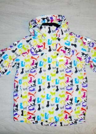 Шикарная куртка kilpi с кошками в отличном состоянии3 фото