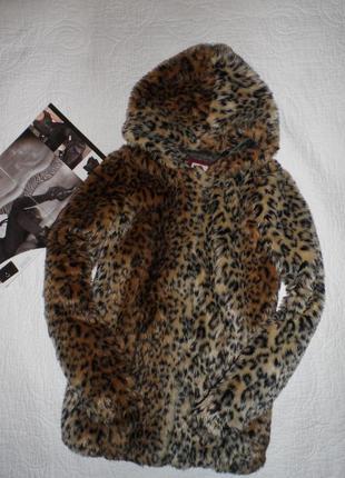 Знижка!!!леопардова шуба тренд сезону bershka