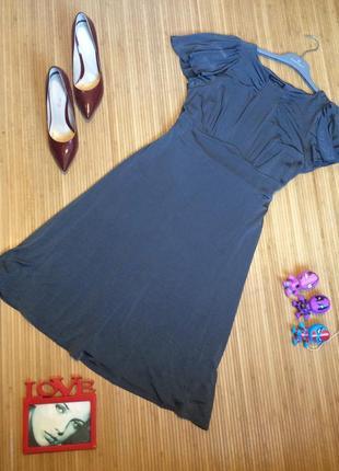 Платье цвета мокрого асфальта, размер xl