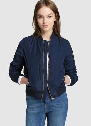 Стильная куртка бомбер bershka с капюшоном p. s(новое!)