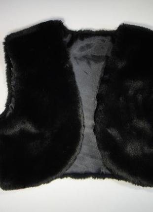 Меховая жилетка болеро m/l (9-14 лет)