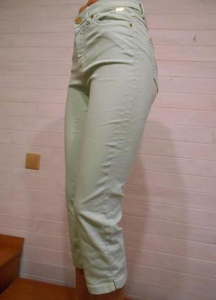 Мятные укороченные джинсы,капри.
