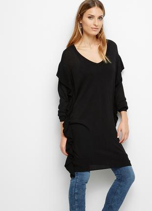 Шикарное мерцающее платье свитер р. l, lindex