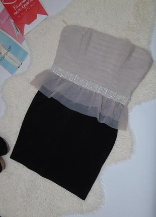 Нежное платье  бюстье 14 размера