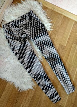 Чёрно-белые брюки h&m