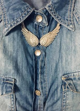 Бижутерия,колье+сережки ангельские крылья