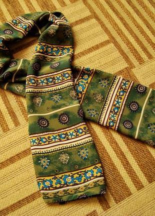 Платок шейный, шарф, 100% шелк.