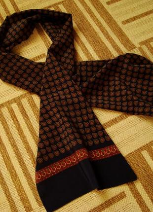 Платок шейный, шарф, 100% шелк, италия.