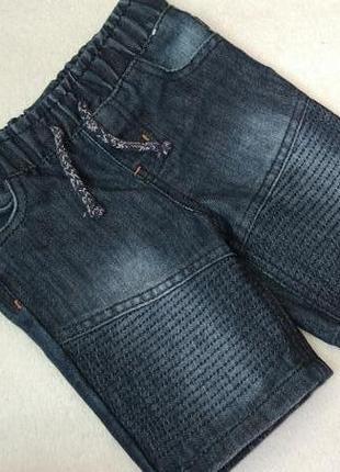 Новые джинсовые шорты бриджи denim co на 12-18 мес