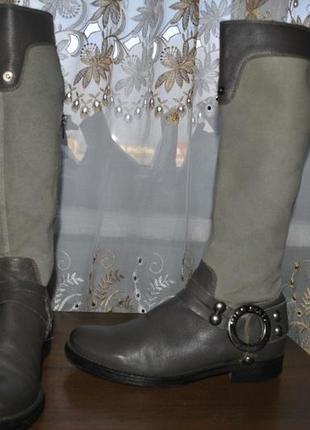 Высокие кожаные сапожки miss sixty 39рр