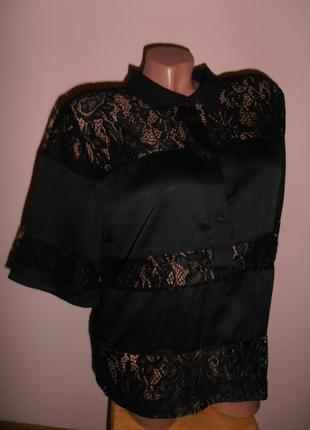 Шикарная блуза с гипюровыми вставками