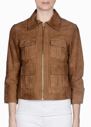 Летняя цена🔥🔥🔥кожаная куртка 🧥 stefanel (италия) новая, натуральная! xs