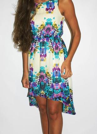 Красивое шифоновое платье в цвета3 фото