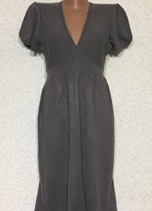 Вискозное трикотажное платье