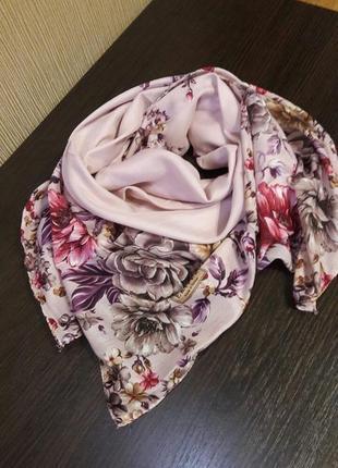 🌷роскошный легчайший турецкий платок пудровый