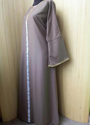 Длинное базовое платье рубашка / абая / галабея