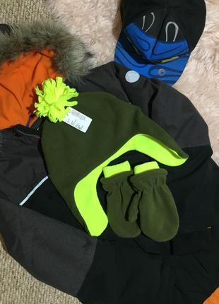 Флисовый набор шапка и рукавички children place