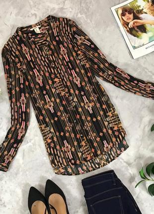 Шелковая блуза в хаотичный принт  bl1910033  h&m