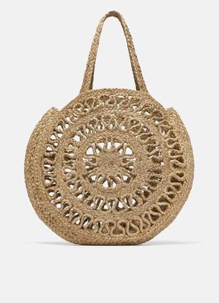 Новая плетеная круглая сумка