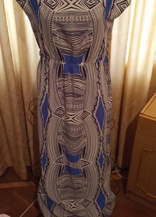 Летнее платье в пол с ацтекским орнаментом atmosphere  44-46