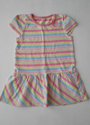 Платье в полосочку george 9-12 m