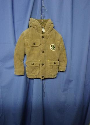 Комфортная вильветовая курточка на малыша 🐻