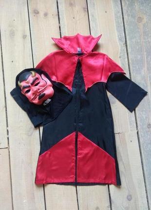 Карнавальный костюм черт дьявол на хэллоуин 5-9 лет