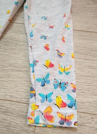 Лосины на девочку с бабочками3