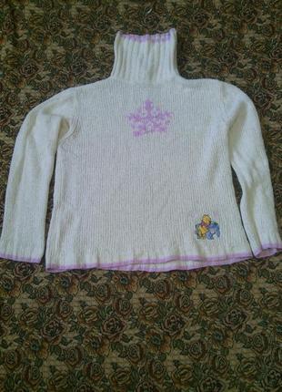 Белый вязаный свитер disney store