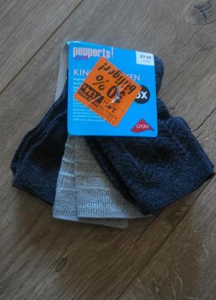 3 пары.немецкие детские носки.pepperts/германия.27-30 размер