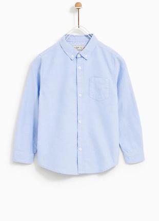 Zara pубашка из натуральной ткани на мальчика 11-12 лет